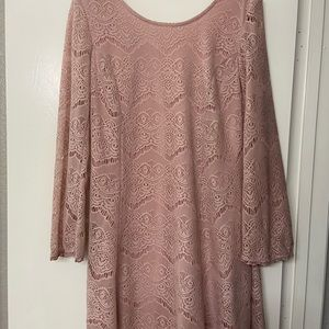 Pink lacy dress